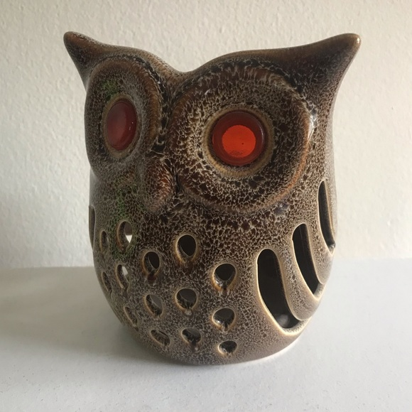 PartyLite Other - Partylite Ceramic Owl Candle Holder